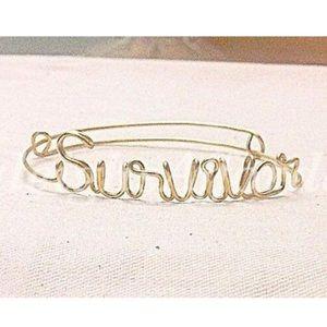 "Handmade Custom Wire ""Survivor"" Bracelet"